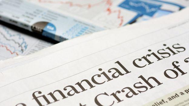 Diarios hablando de la crisis financiera