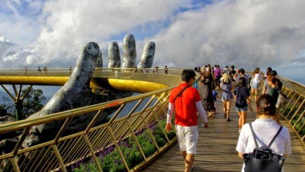 Cầu vàng Bà Nà Hill ở Đà Nẵng