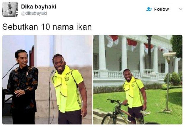 Meme Lucu Michael Essien Dari Temu Jokowi Hingga Jualan Tahu Bulat