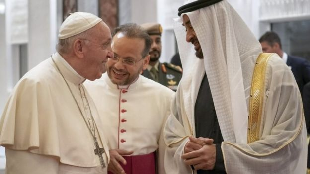 "Pope Francis meets Abu Dhabi""s Crown Prince Mohammed bin Zayed Al-Nahyan"