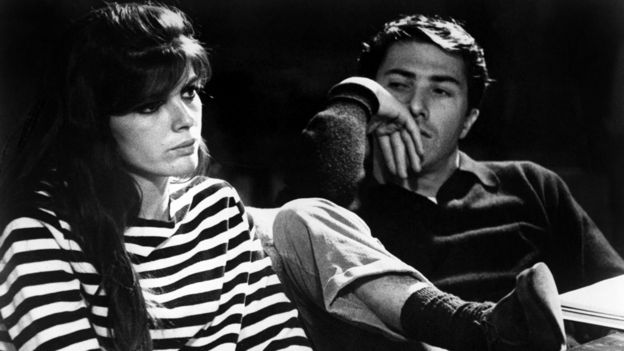 Katharine Ross and Dustin Hoffman
