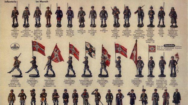 """Catálogo de """"Hausser"""", una de las mayores empresas de soldados de juguete en Alenia en la época. El catálogo es de 1936."""