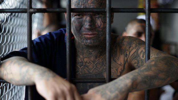 Pandillero de El Salvador
