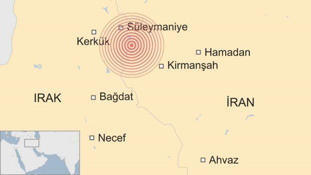 İran - Irak sınırında meydana gelen deprem.