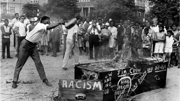 A Burial Burning of Jim Crow on June 11, 1967