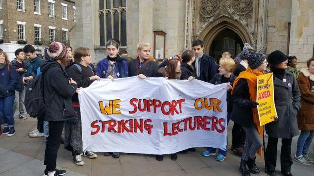 Strikers in Cambridge