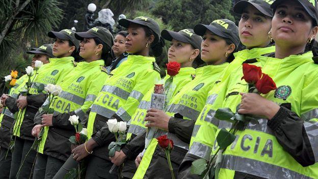 Policías colombianas