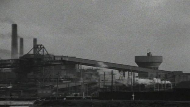 Port Talbot steel plant circa 1965