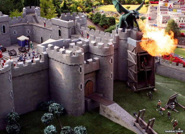A fire-breathing dragon and castle at Babbacombe