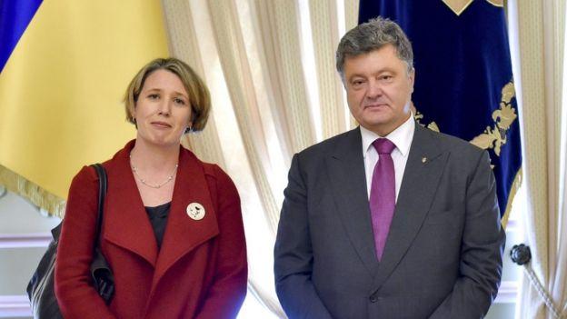 Джудіт Гоф і Петро Порошенко