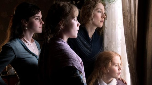 Emma Watson, Florence Pugh and Saoirse Ronan in Little Women