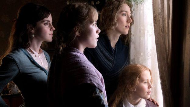 Emma Watson, Florence Pugh and Saoirse Ronan in Little Women