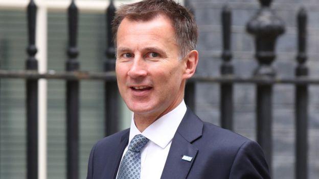 Ministro de Salud Jeremy Hunt