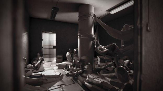 Reconstrucción artística de una celda en El Helicoide