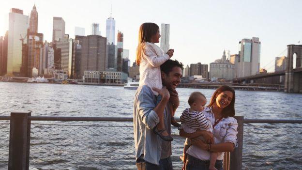 Familia en Nueva York.