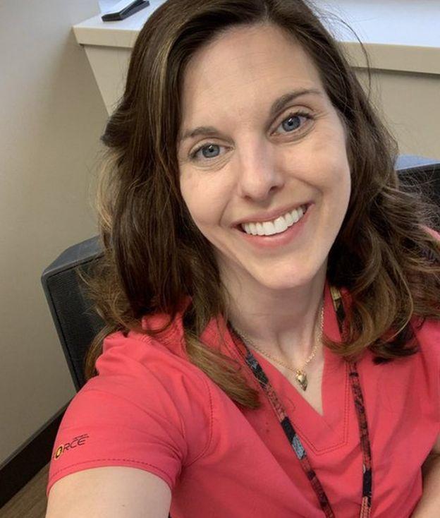 Dr Tara Chettiar in her scrubs