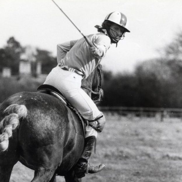 Ginger Baker playing polo
