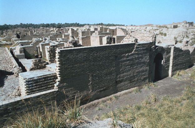 Antiguas ruinas de Babilonia