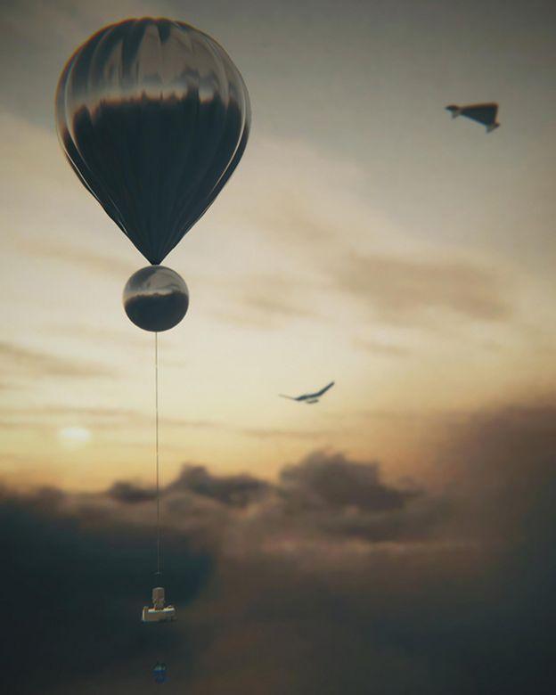 Artwork of Venus balloon