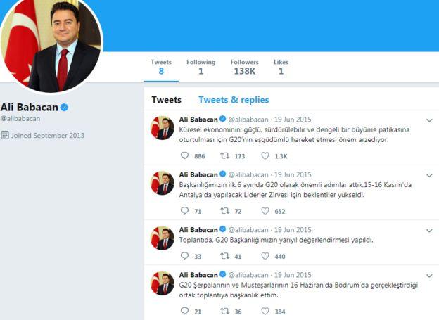 Ali Babacan Twitter'ı yıllardır kullanmıyor