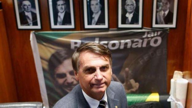 Bolsonaro em gabinete na Câmara