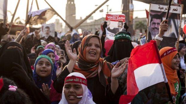 Demonstration in support of Morsi in Egypt in 2013