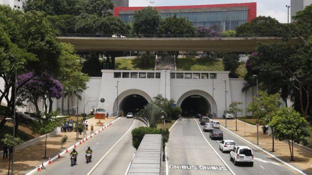 Avenida 9 de Julho, em São Paulo