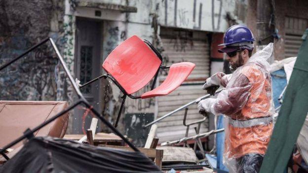 Ação na cracolândia paulistana