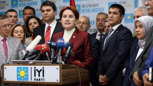 Akşener ve İYİ Parti yöneticileri seçimin ardından açıklama yaparken