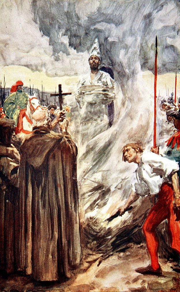 Jan Hus en la hoguera