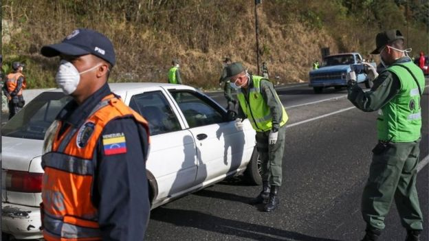 Militares en Caracas