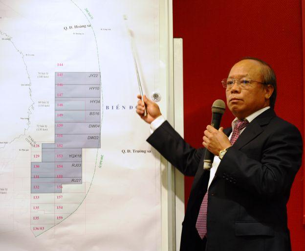 PetroVietnam hồi 2012 đã công bố bản đồ các lô khai thác dầu khí ở Biển Đông