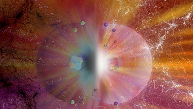 Colisión entre materia y antimateria