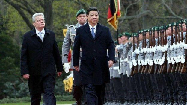 習近平在2014年訪問德國