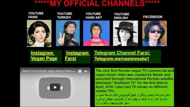 Captura de pantalla de la página http://nasimesabz.com/