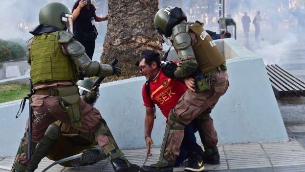 La protesta y capítulos de violencia y la pacificación propuesta por los artistas
