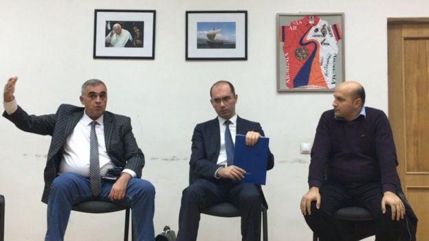 Азербайджанские журналисты в Ереване