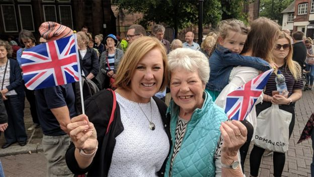 Alison Green with her mother Margaret Bamber