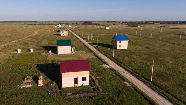 Asentamiento kirguizo en la región de Tula.