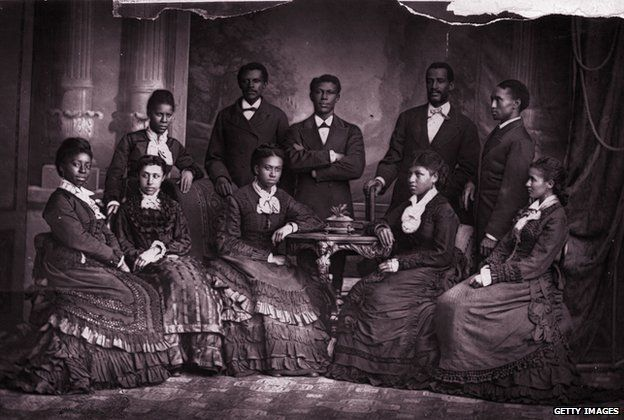 The Jubilee Singers of Fisk University on a visit to England where they where invited to give a concert before Queen Victoria
