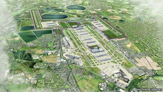 Artist's impression of Heathrow four-runway option
