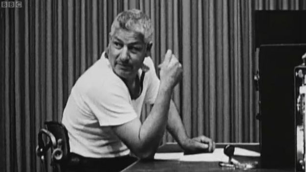 Image taken from the recordings of the Milgram experiment of 1963, issued in a documentary archive of the BBC.