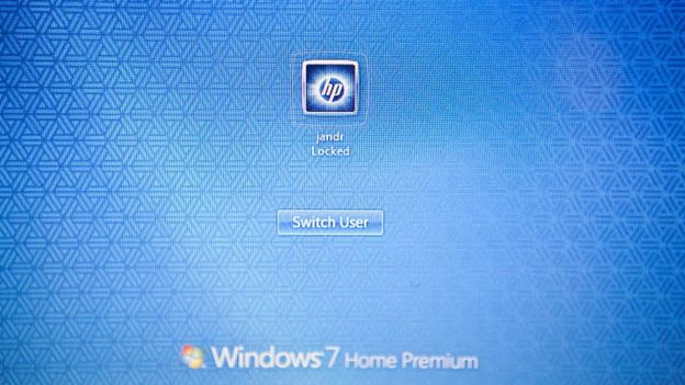 Pantalla de inicio con el sistema operativo Windows 7