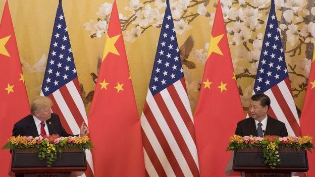 特朗普与习近平在北京会面