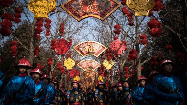 Tại Thiên Đàn ở Bắc Kinh, các nghệ sĩ tái hiện lại một nghi lễ hiến tế thời phong kiến