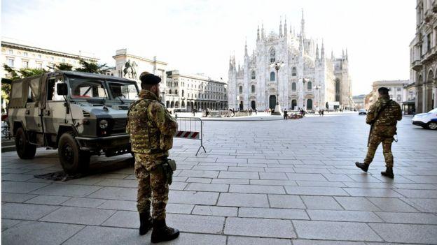 площадь перед Миланским собором