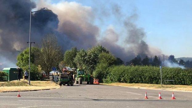 Fire in Marlow