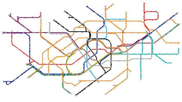 Mapa de metrô