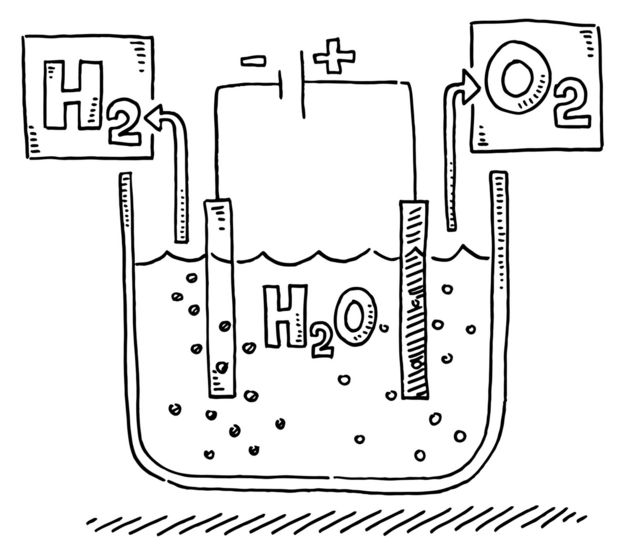 Una ilustración de la composición del agua