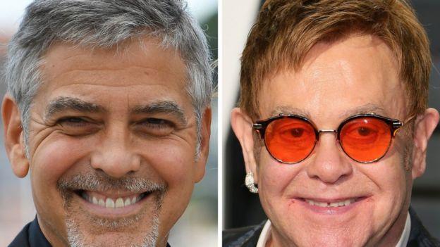 George Clooney dan Elton John